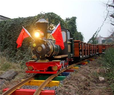 18 seater sightseeing train of Zhejiang Bergamot Culture Park