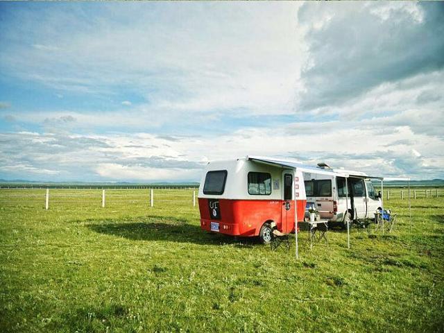 Korean Style Camping Trailer Caravan Model 750 For Travel