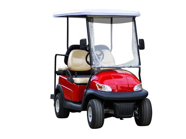 4 seater Red Electric Golf car   Model DS-S2+2