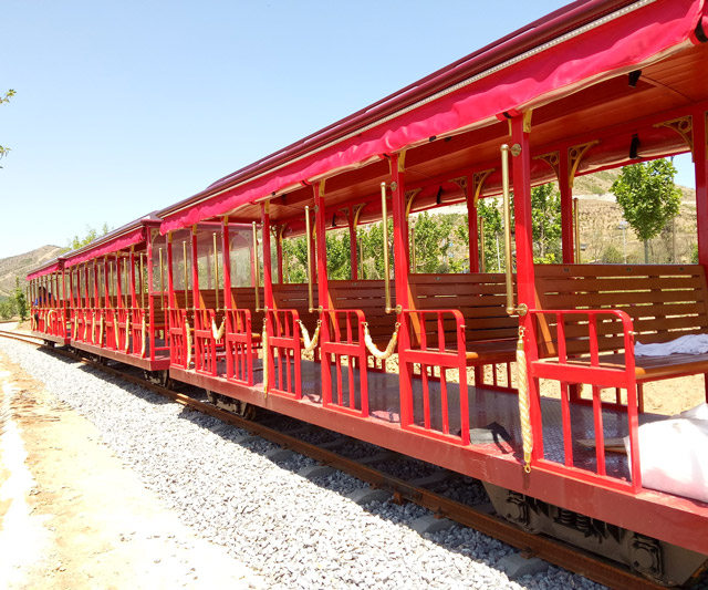 Hebei Zhushan Park 63 Seats Track Sightseeing Train