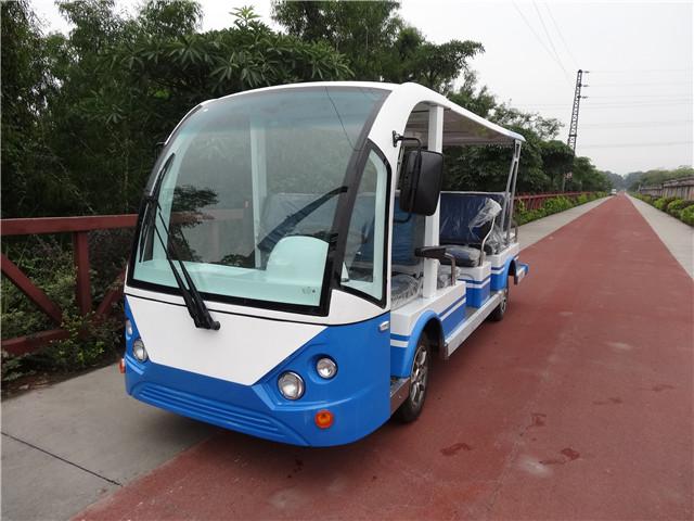 14 Seats Gasoline Power Sightseeing Car  DSY-QU14