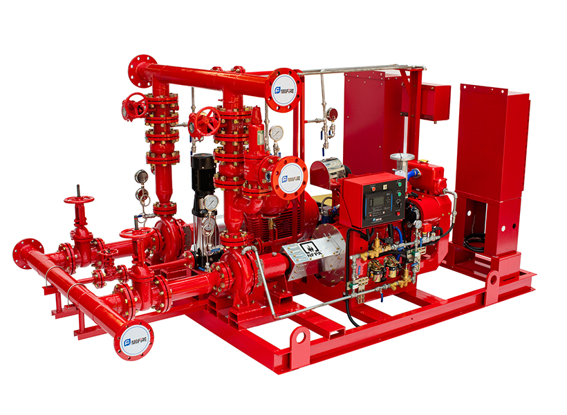 UL/FM Approval  Full Assembly Skid Mounted Fire Pump Package