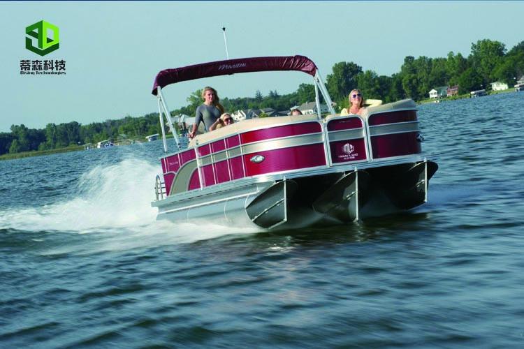 24ft Yacht Recreational Floating Aluminum Pontoon Boat