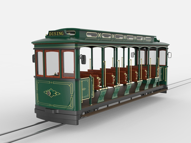 24 Seats Track Electric Sightseeing Train tram DST-G3-E24