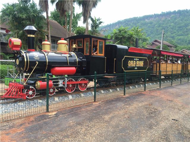 See wonderful scenery, and take beautiful mini train.