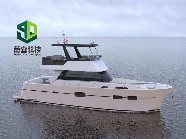 63ft aluminum-magnesium alloy luxury yacht