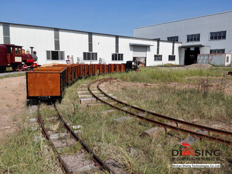 Railroad sightseeing train test track